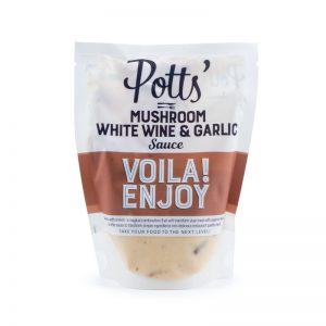 Pott's Mushroom, White Wine & Garlic Sauce